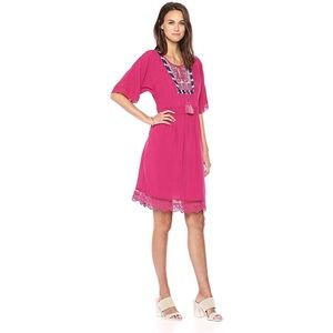 Ella Moon Pink Embroidered Dress X-Large